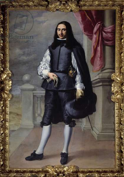 Portrait in foot of Fernandez de Velasco, gentleman of Seville Painting by Bartolome Murillo (1618-1682) 1659 Sun. 2,08x1,38 m