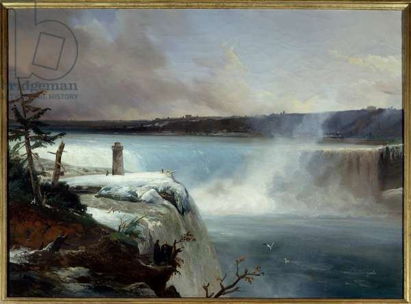 Niagara Falls. Painting by Jean Charles Remond (1795-1875), 19th century. Oil on canvas. Dim: 0.65 X 0.90 m. Rouen, Musee des Beaux Arts.