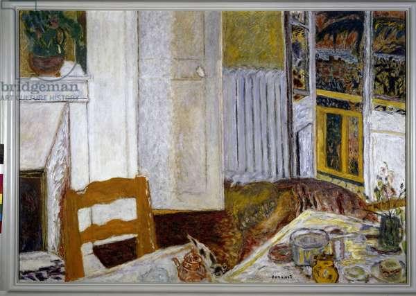 Interior White Painting by Pierre Bonnard (1867-1947) 1932 Dim. 0,1x0,15 m Grenoble, musee des Beaux Arts
