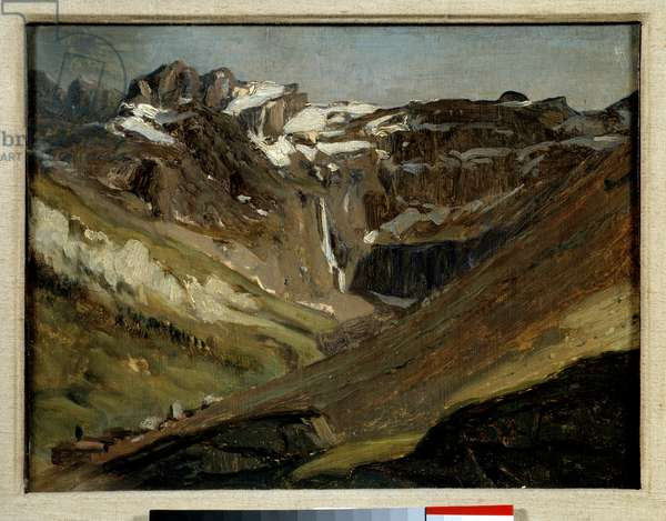 The circus of Gavarnie in the Pyrenees Painting by Jules Dupre (1811-1889) 1844. Pau, Fine Arts Museum.