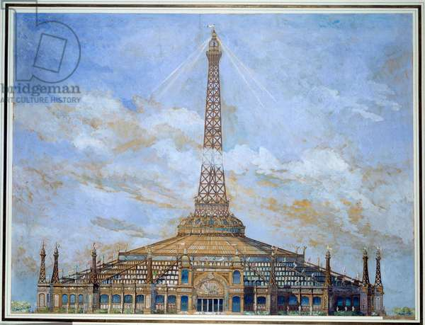 Design of the Eiffel Tower for the 1900 Universal Exposition Gouache by Henri Toussaint (1849-1911) 1900 Sun. 0,9x1,14 m Paris, musee d'Orsay