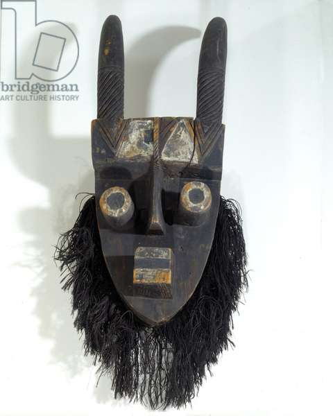African Art: Grebo mask from Ivory Coast. Dim. 64 cm Paris, Musee Picasso