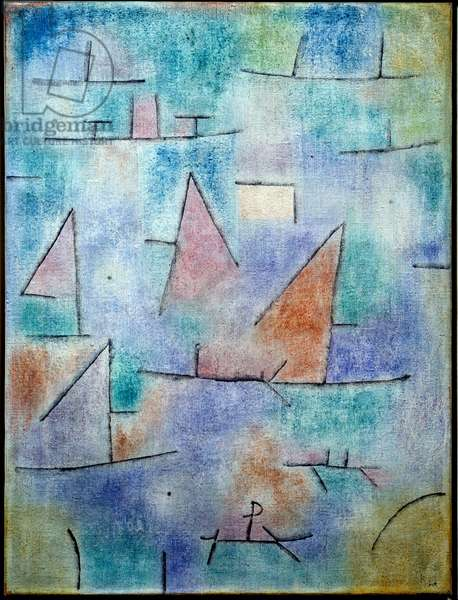 Port and Sailboats, 1937 (oil on canvas)