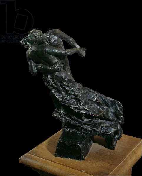 The waltz. Dancing couple. Bronze sculpture by Camille Claudel (1864-1943), 1894. Paris, Musee Rodin