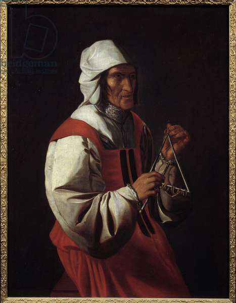 The triangle player. Painting by Georges De La Tour (1593-1652), 17th century. Private collection.