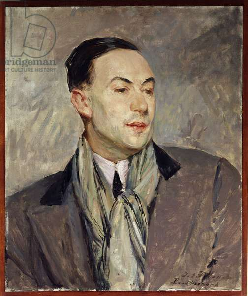 Study for the portrait of Paul Morand (1888-1976) Painting by Jacques Emile (Jacques-Emile) Blanche (1861-1942) Dim. 0,54 x 0,45 m Rouen. Museum of Fine Arts