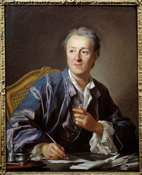 Portrait of the French writer and philosopher Denis Diderot, 1767 (Oil on canvas)