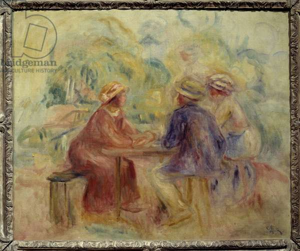 Meeting in the garden Painting by Auguste Renoir (1841-1919) 20th century Sun. 0,55x0,65 m Paris, Musee d'Orsay