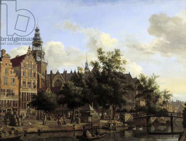 View of the City of Amsterdam Painting by Jan Van der Heyden (1637-1712), 17th century The Hague. Mauritshuis