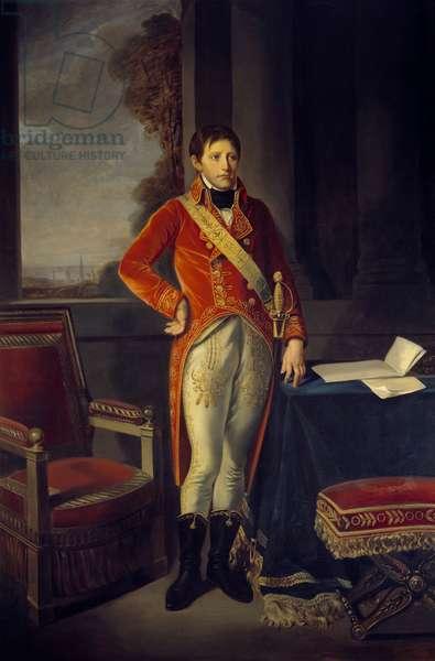 Portrait en pied de Bonaparte en premier consul (1769 - 1821). Painting by John the Baptist Greuze (1725-1805), 1803. h s/t 2,42 x 1,54m. Malmaison, Musee Du Chateau