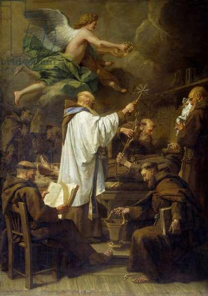 The Death of Saint Francois d'Assisi (1181-1226) Painting by Jean Jouvenet (1644-1717) 18th century Sun. 2,07x1,5 m Rouen, Musee des Beaux Arts