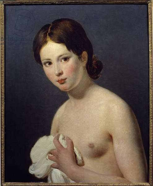 Portrait of a young girl. Painting by Jacques Louis David (1748-1825), 19th century. Reims, Museum of Fine Arts