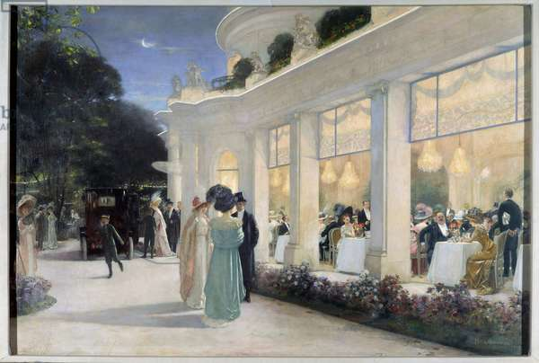 Dinner at Pre Catelan (Pre-Catelan), 1909 (oil on canvas)