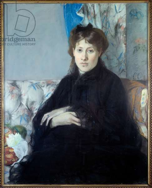 Portrait of Madame Edma Pontillon, nee Morisot sister of the artist. Painting by Berthe Morisot (1841-1895), 1871. Drawing of pastel on paper 0,80 x 0,64m. Paris, Musee d'Orsay