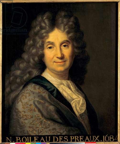 Portrait of Nicolas Boileau Despreaux (Boileau-Despreaux) (1636-1711) - Painting by Jean Baptiste Santerre (1651-1717), 1684 - Sun 0,63x0,52 m -