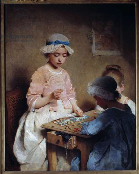 The lottery part Painting by Charles Chaplin (1825-1891) 1865 Sun. 1,16x0,97 m Rouen, Musee des Beaux Arts