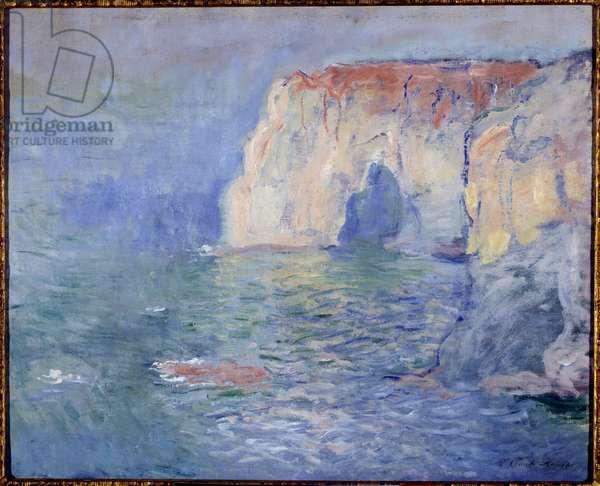Etretat, la manneporte, refllets sur l'eau Painting by Claude Monet (1840-1926) 1885 Sun. 0,65x0,81 m Paris, musee d'Orsay