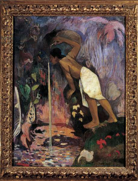 The mysterious water (Papa Moe) Painting by Paul Gauguin (1848-1903) 1893 Private collection.