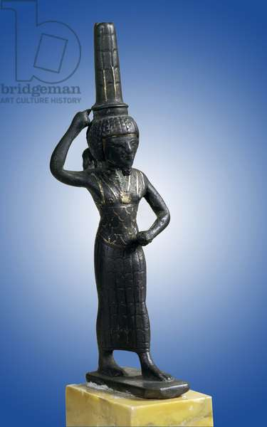 Egyptian antiquite: statuette of the warrior god Onouris (or Chou), Paris, Louvre Museum
