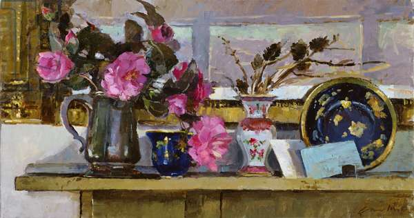 Camellia on Mantelpiece