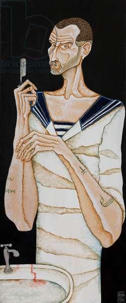 Sailor Shaving, 2011 (acrylic on canvas)