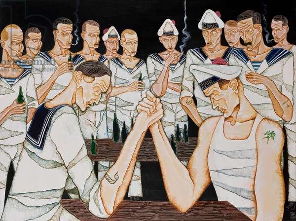 The Contest, 2011 (acrylic on canvas)
