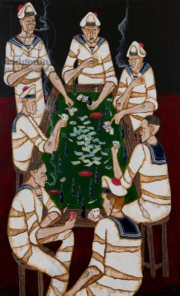 Poker Game, 2012 (acrylic on canvas)