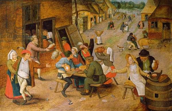 The Village Festival (oil on panel)