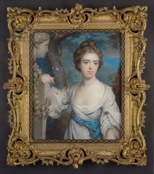 Mary Colebrooke, later Aubrey, 1766 (pastel on paper laid down on linen)