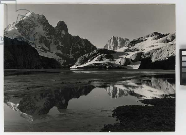 The Aiguille Verte seen from the Lac Blanc, Chamonix, France (silver gelatin print)