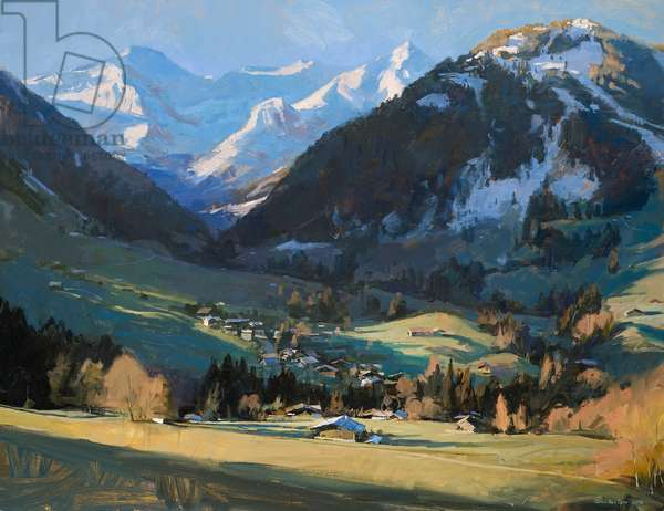 Gstaad, early morning, 2016 (oil on canvas)