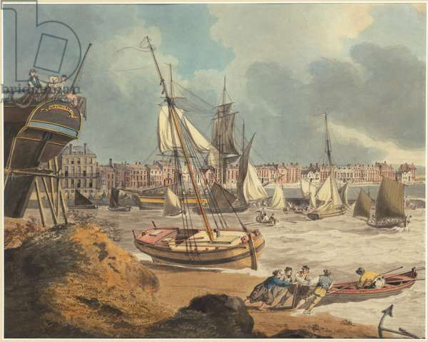 The Harbour at Weymouth, 1805 (pen & ink & w/c on paper)