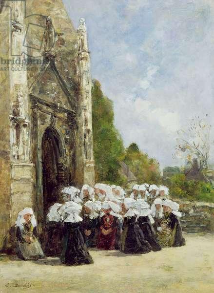 Pardon en Bretagne, c.1865-70 (oil on panel)
