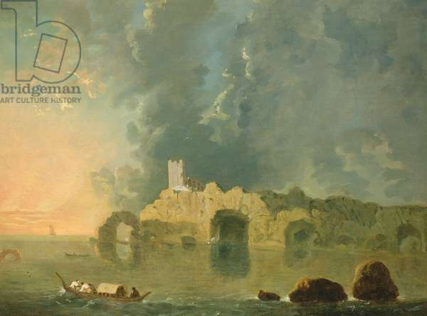 Torre delle Grotte, near Naples (oil on canvas)