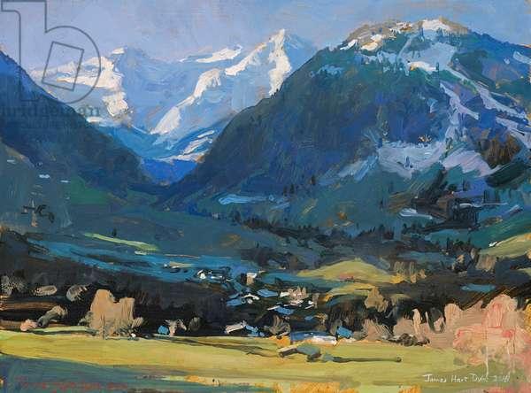 Gstaad, 2016 (oil on canvas)