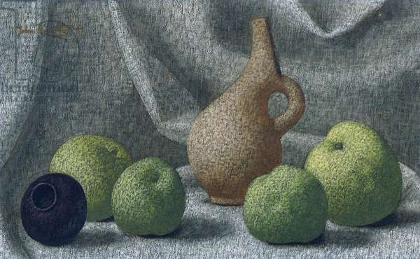 Cycladic Pot with Apples, 1961 (oil on canvas)