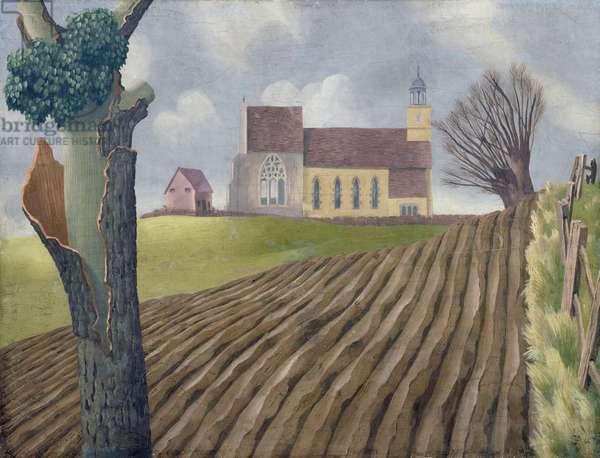 Tilty Church, 1940 (oil on board)