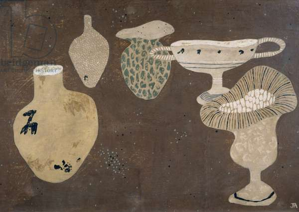 Vases, 1937 (tempera on gesso on board)
