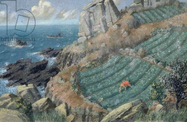 Lamorna, 1952 (oil on canvas)