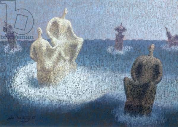 The Gods Abandoned, 1956 (oil)