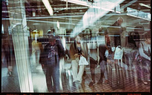 Multil exposure at Tokyo station, shot on Film 6x9 (b/w photo)