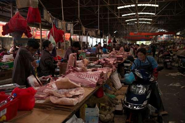Indoor Market Chengdu China (photo)