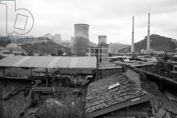 Factory, Yibin, China (b/w photo)