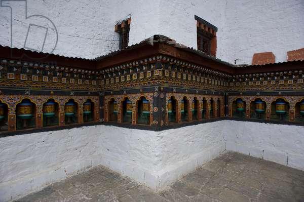 Prayer wheels in Bhutan (photo)