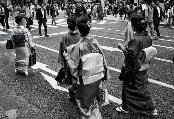 Tokyo city scene, Japan (b/w photo)