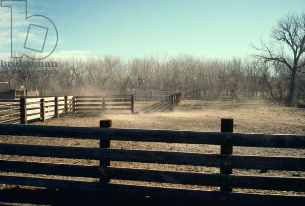 Winter Ranch Scene, Dee ranch Wyoming 1996 (photo)