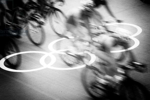 Olympic games, London, UK, 2012 (b/w photo)