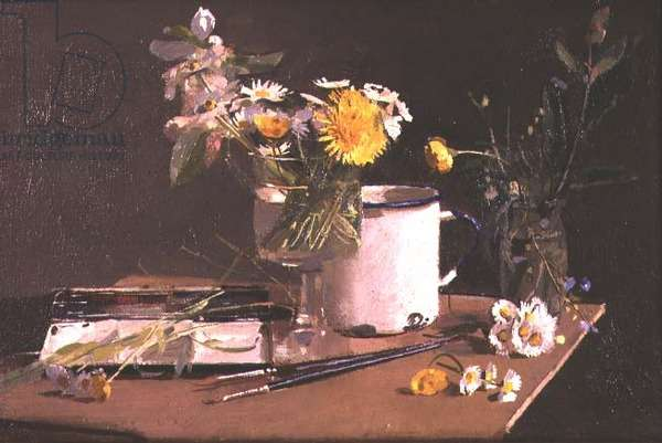 Still life with mug and paintbox, 1970