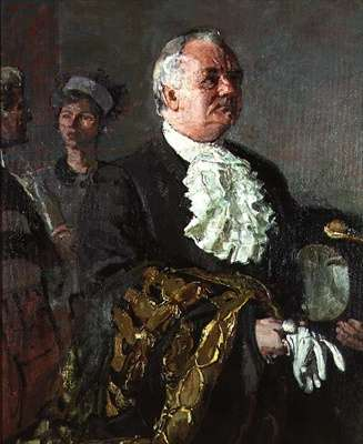 Portrait of a man in ceremonial robes