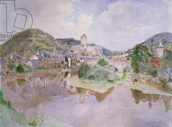 Estaing, France, 1987 (pencil and w/c)